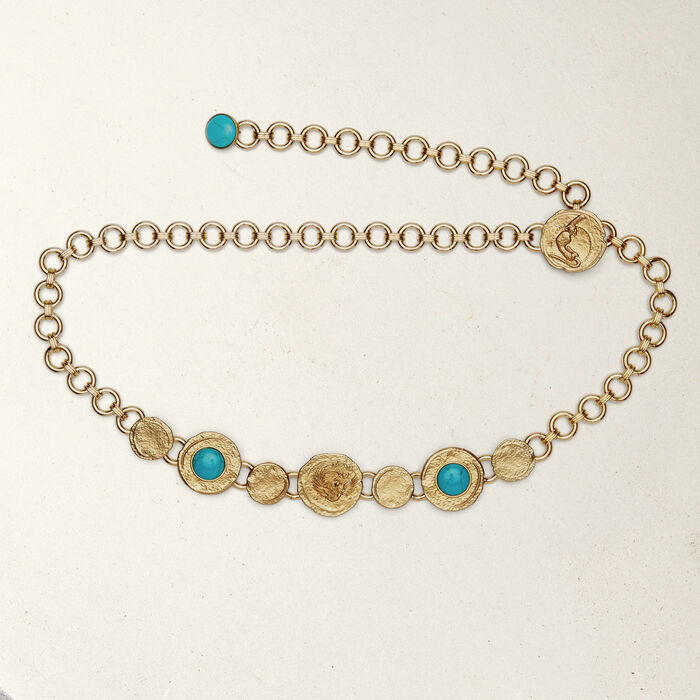 Cinturón cadena con medallas : Cinturones color OR