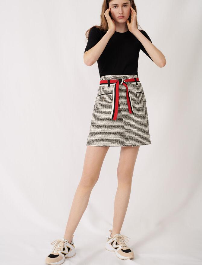 Falda pareo de tweed - Faldas y shorts - MAJE