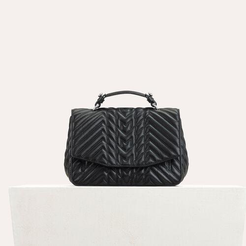 Bolso minicartera de piel acolchada : Bolsos LDance color Negro