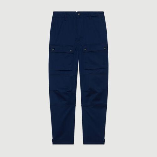Pantalón ancho tipo Worker : Jeans color Azul