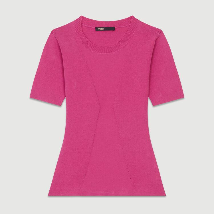 Jersey fino de manga corta : Malla color Fucsia