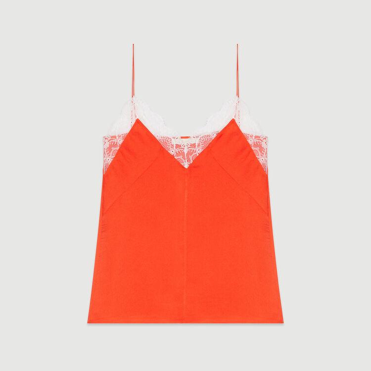 Caraco con encaje : Tops color Naranja