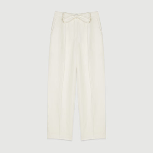 Pantalón con pinzas : Pantalones color Blanco