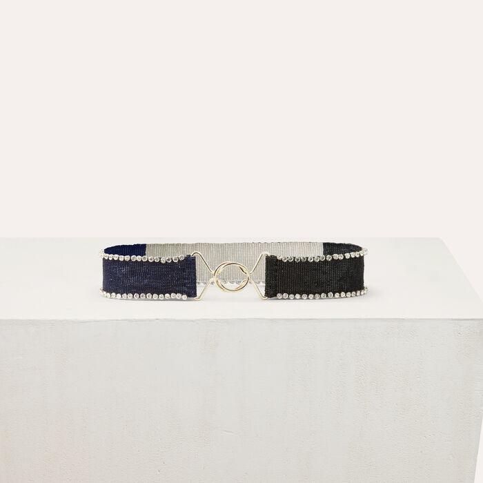 Contirón con perlas bicolor : Cinturones color Multicolor