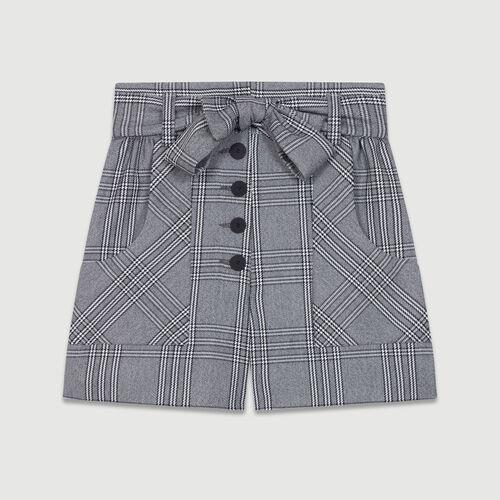 Short Principe de Galles : Faldas y shorts color CARREAUX