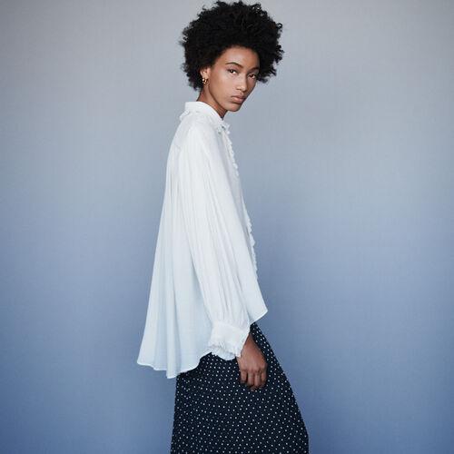 Blusa avolantada : Tops y Camisas color Crudo