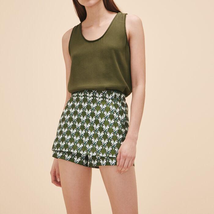 Falda pantalón de jacquard - Hello Summer - MAJE