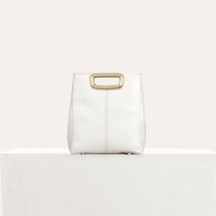Bolso MMini Skin de cuero y metal dorado : Campaña SS19 color Blanco