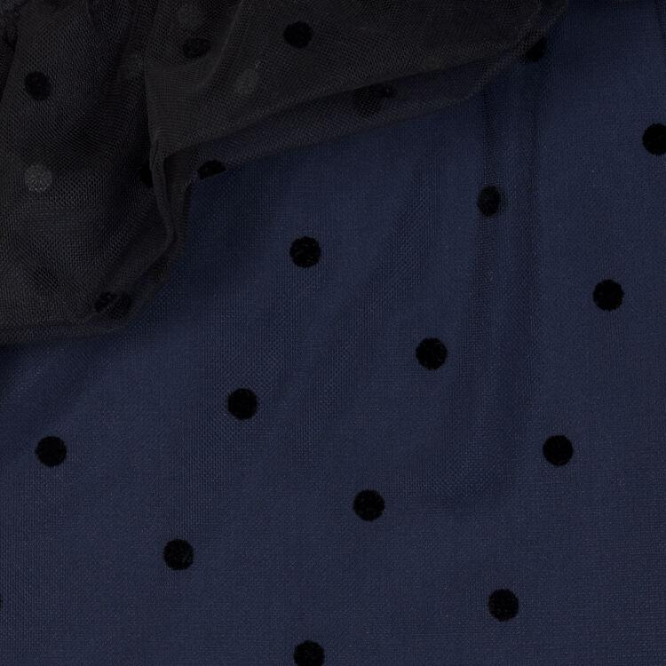Top asimétrico de plumetis con volante : Tops color Azul Marino