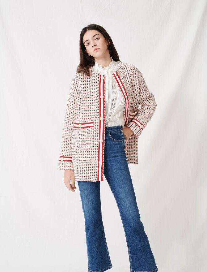 Abrigo corto clásico de tweed - Abrigos y Cazadoras - MAJE
