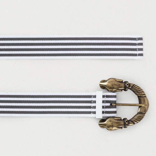Striped belt : Cinturones color Gris