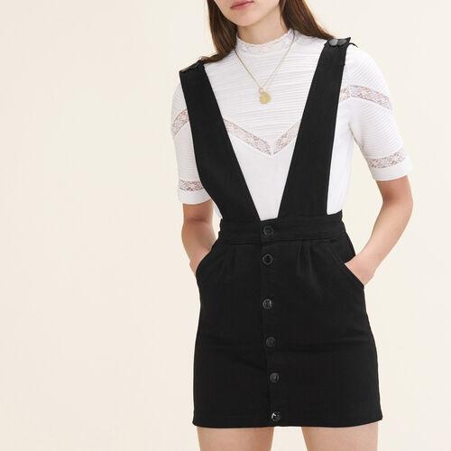 Trägerkleid aus Jeansstoff : Vestidos color Negro