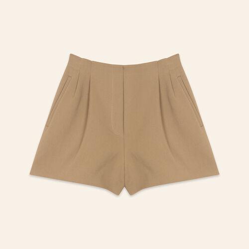 Short de mezcla de algodón : Faldas y shorts color Camel