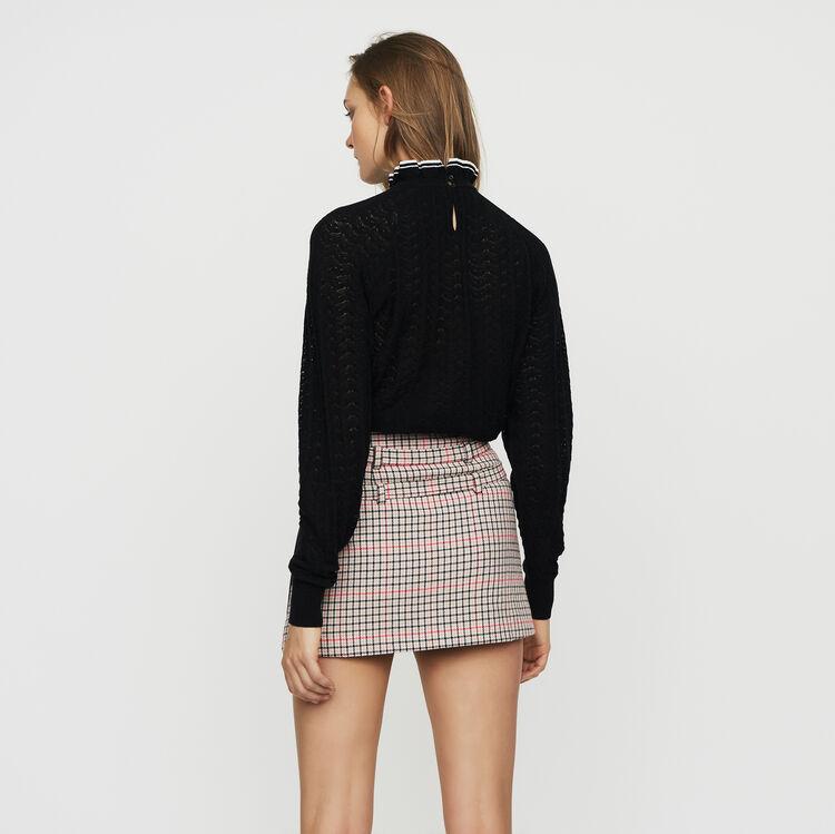 Jersey de punto espiguilla : Malla color Negro