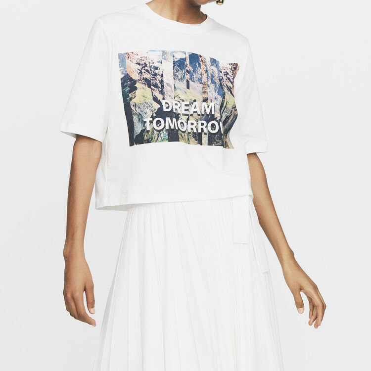 Camiseta corta estampada : T-Shirts color Blanco