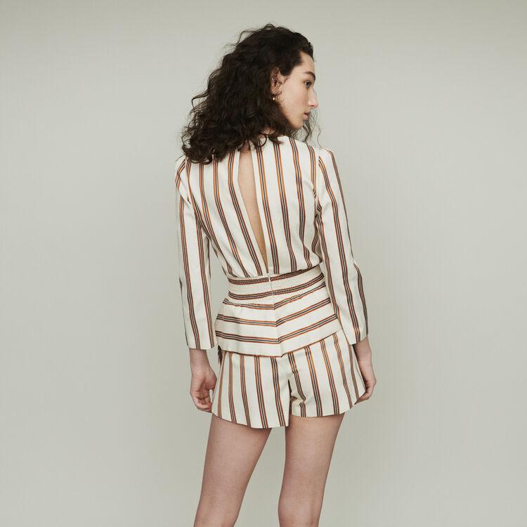 Mono-short a rayas : Faldas y shorts color Rayas