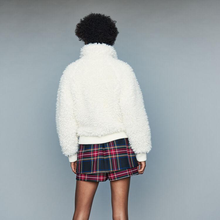 Cazadora corta de piel falsa : Cazadoras color Blanco