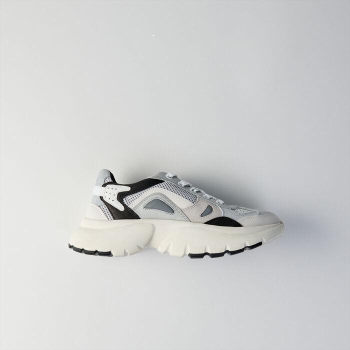 Sneakers W20 urbanos de cuero : Sneakers color Gris