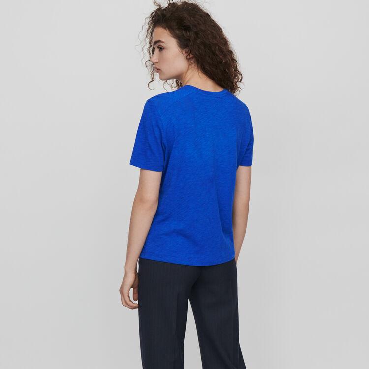 Camiseta bordada : T-Shirts color Azul