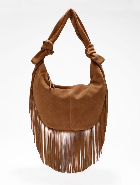Bolso de ante con flecos : Todos los bolsos color Camel