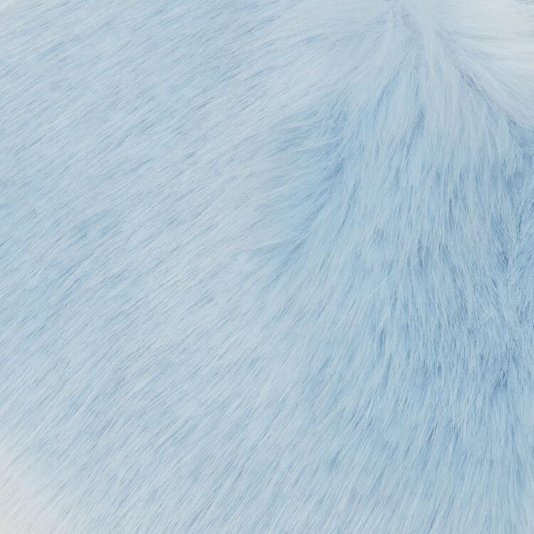 Cuello bufanda de piel falsa : Pañuelos & Ponchos color BLEU CIEL