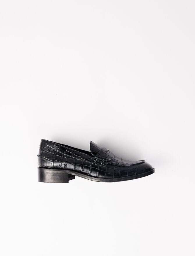 Mocasín piel de becerro estilo cocodrilo - Zapatos de tacón - MAJE