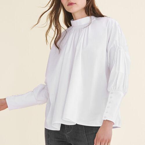 Top de popelina de algodón : Tops color Blanco