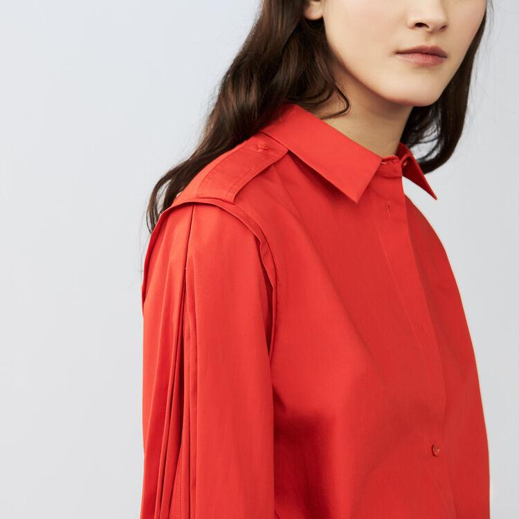 Camisa con detalles trabajados : Camisas color Rojo
