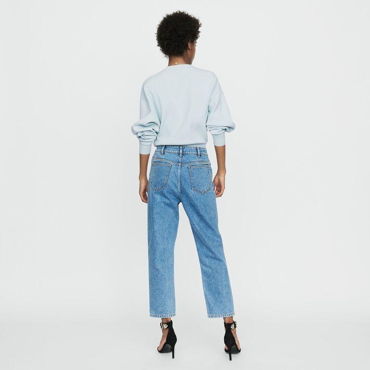 Jean ancho en denim desgastado : Nueva Colección color Denim