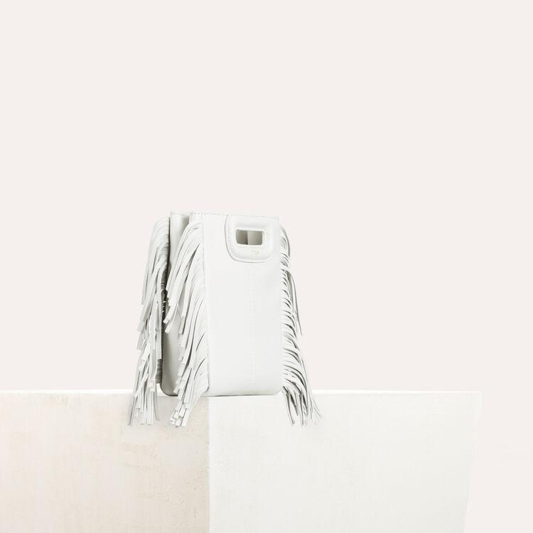 M minibolso de piel con flecos : Bolsos M color Blanco
