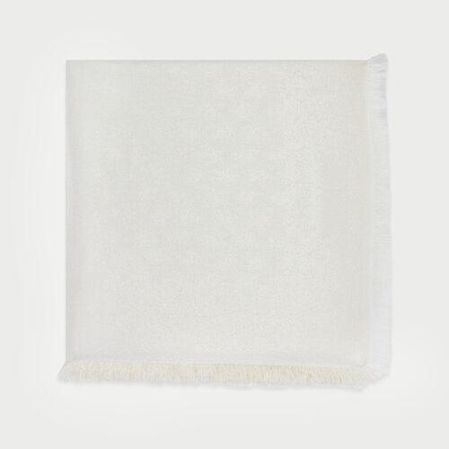 Chal con motivo M en lurex : New in : Colección Verano color Blanco Roto