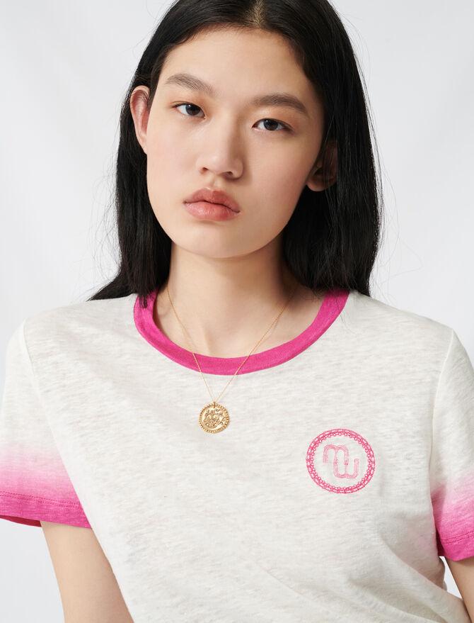 Camiseta estampada tie & dye - T-Shirts - MAJE