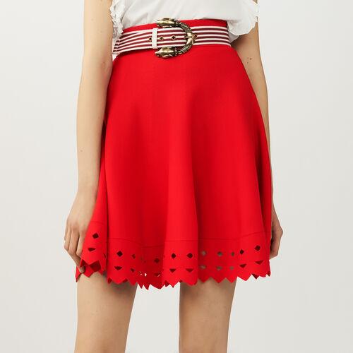 Falda de punto calado : Faldas y shorts color Negro