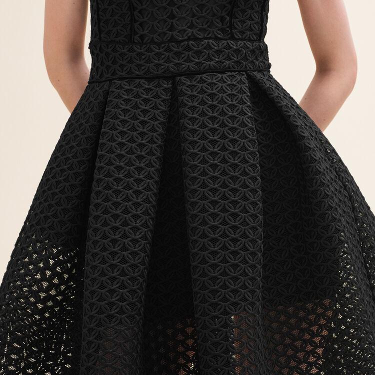 Vestido sin mangas de tejido de malla : Vestidos color Negro