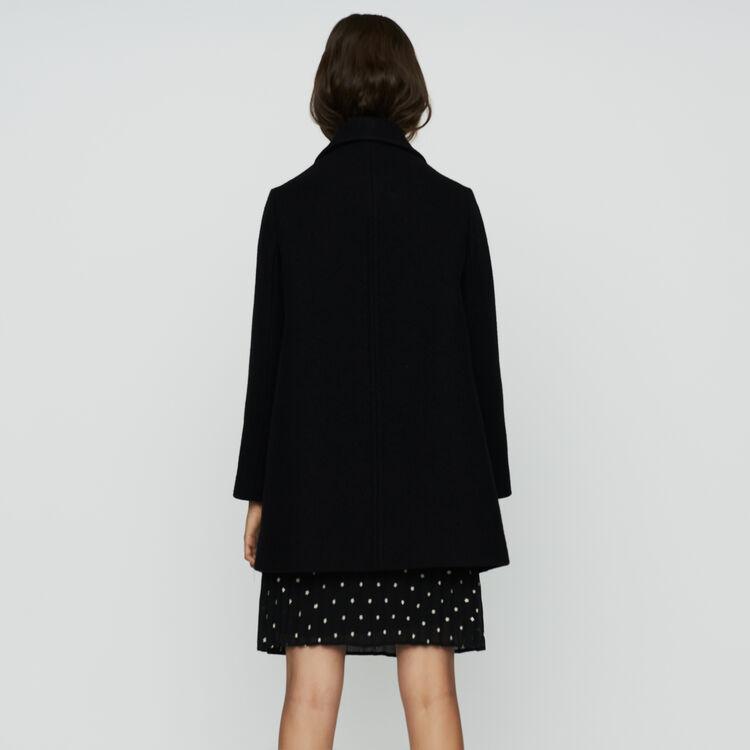 Abrigo trapecio en lana : Prêt-à-porter color Negro