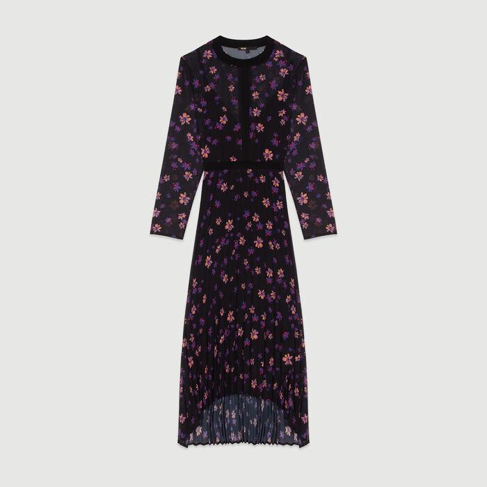 Vestido largo plisao : Vestidos color IMPRIME