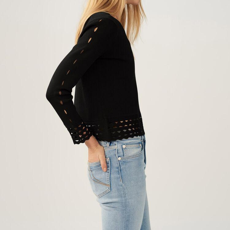 Jersey con detalles calados : Malla color Negro