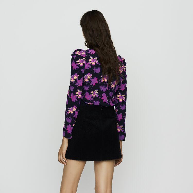 Falda corta de alpaca : Faldas y shorts color Azul Marino