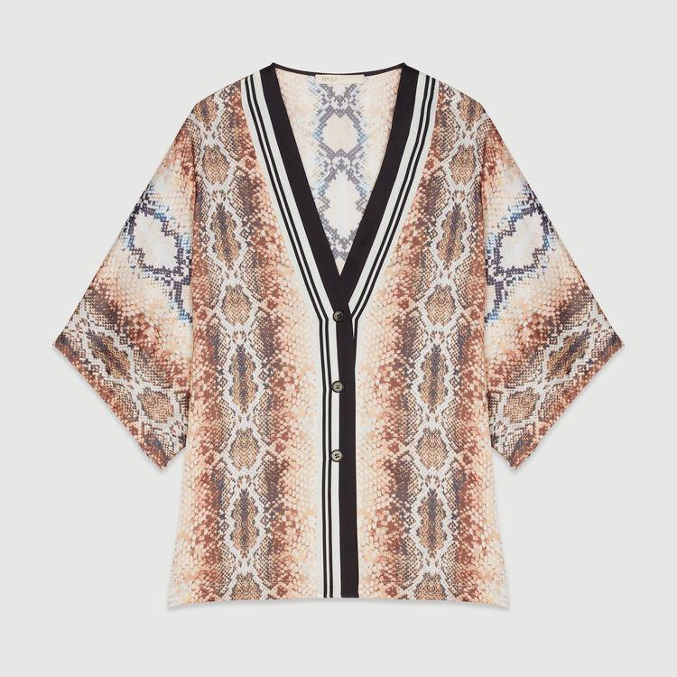 Camisa estampado de pitón : Tops y Camisas color IMPRIME