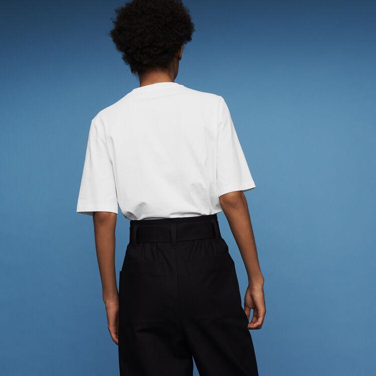 Camiseta de algodón : T-Shirts color Blanco
