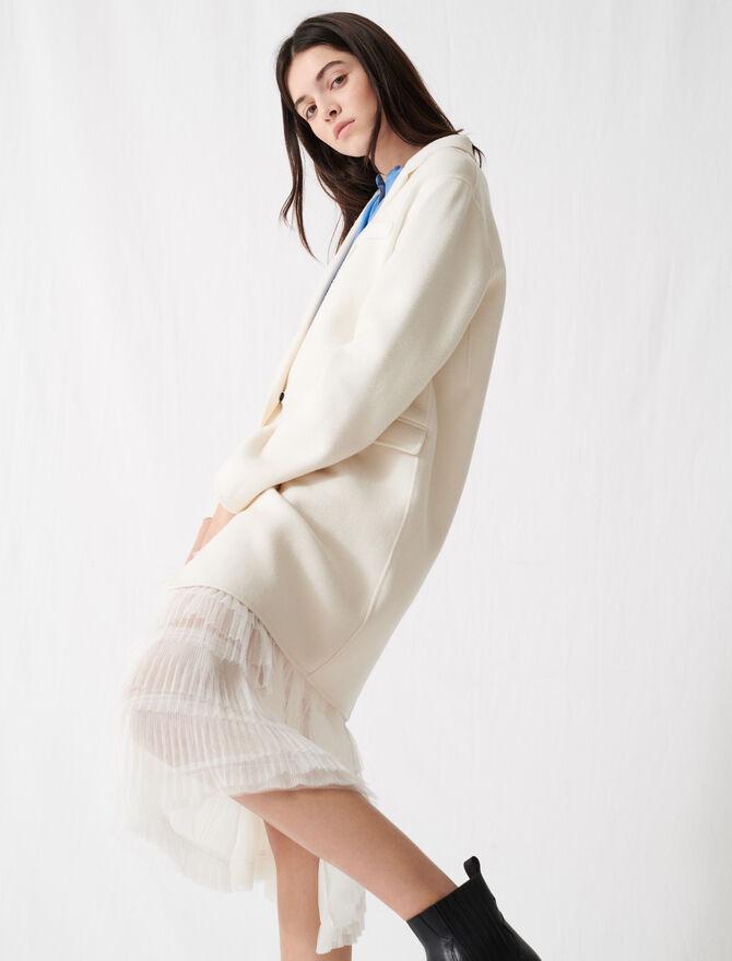 Abrigo blanco reversible largo medio - Abrigos - MAJE