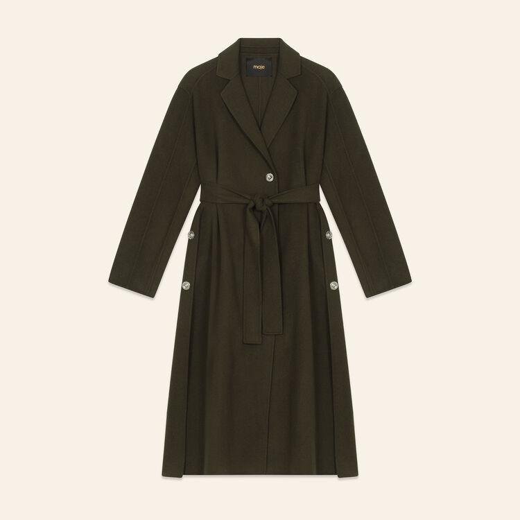 Abrigo largo de doble cara : Abrigos color Caqui