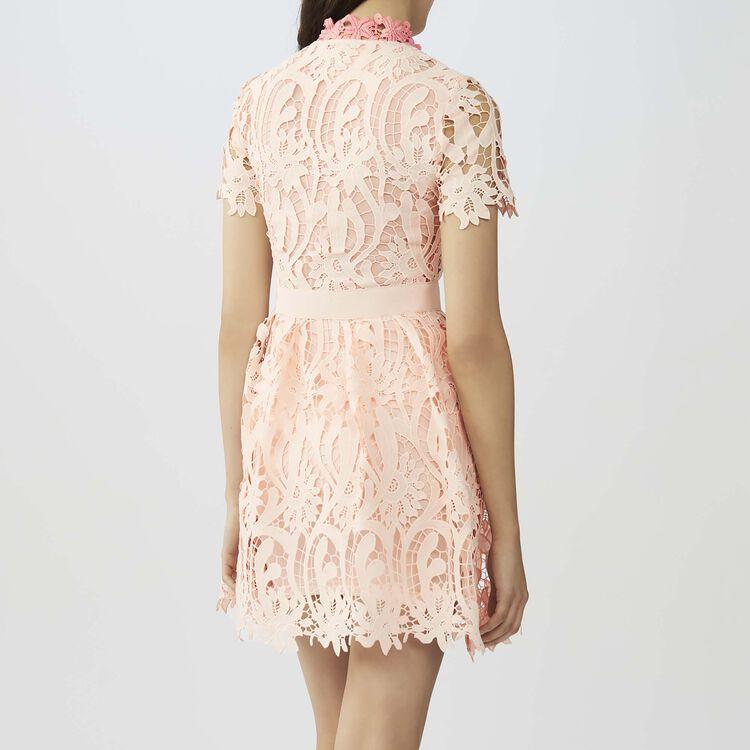 Vestido corto de tejido técnico : Vestidos color Rosa