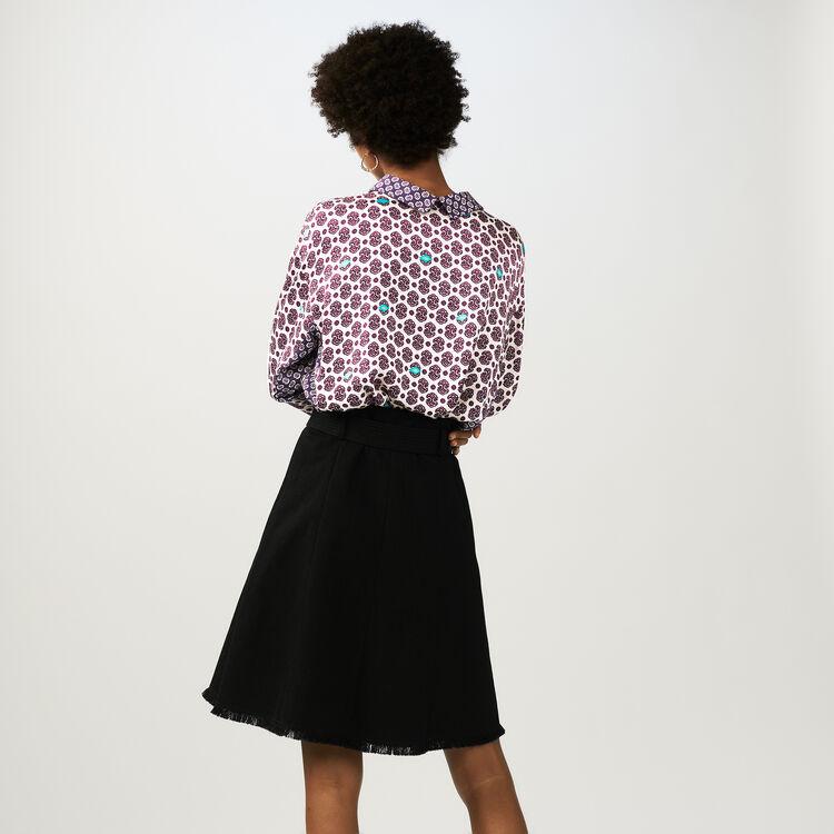 Pantalón ancho de crepé : Faldas y shorts color Negro