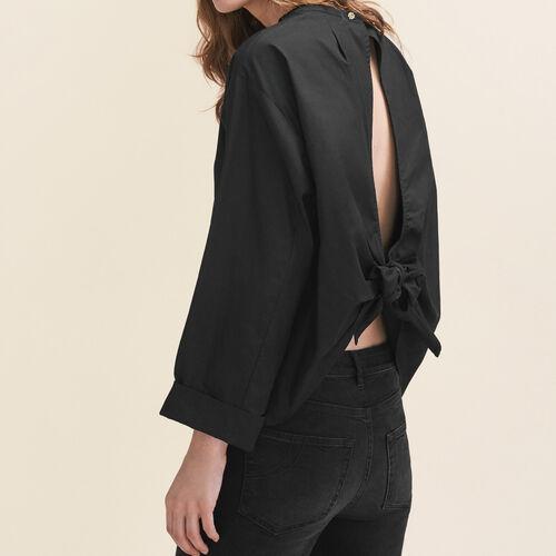 Blusa amplia abierta en la espalda : Tops color Negro