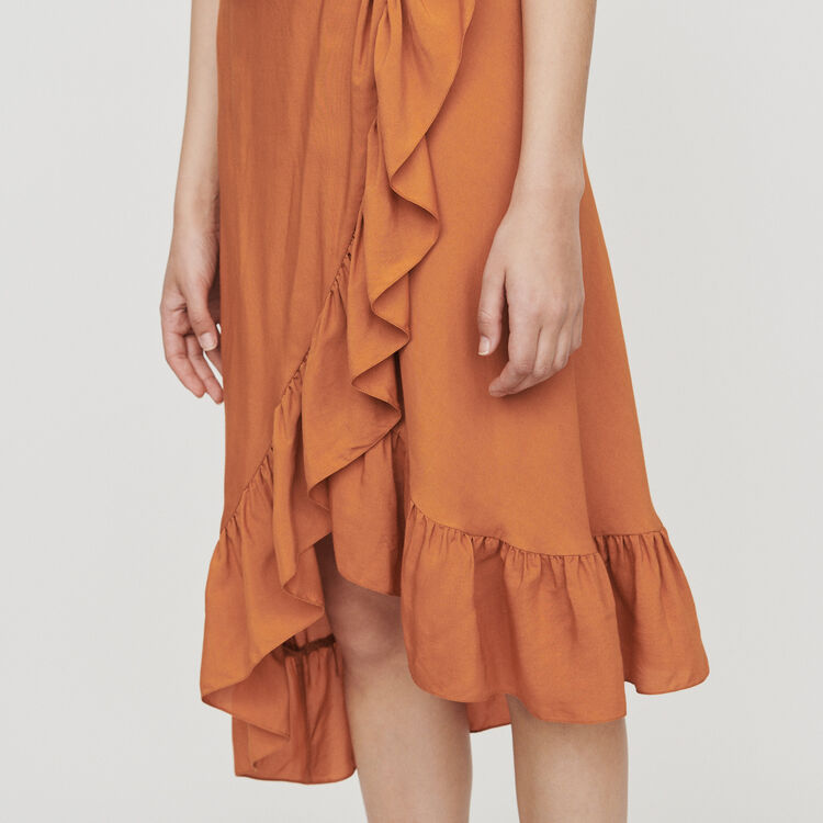 Midi dress with bare shoulders : Campaña SS19 color Terracota