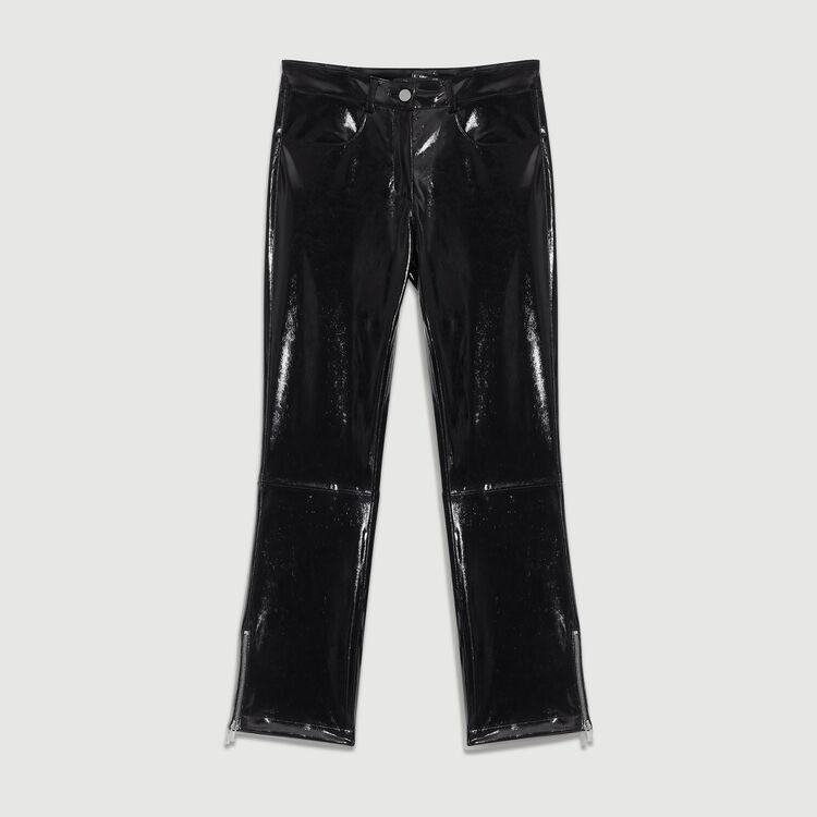 Pantalón pitillo de Skaï : Ver todo color Negro