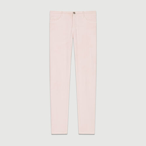 Boyfriend jeans with embroideries : Jeans color Rosa