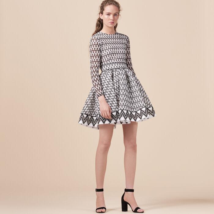 Vestido de patinadora de encaje - Dress Code - MAJE