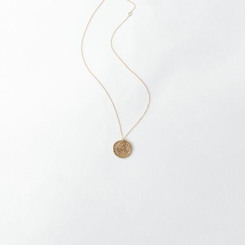 Collar de signo del Zodíaco Cáncer : Bisuteria color Latón Envejecido